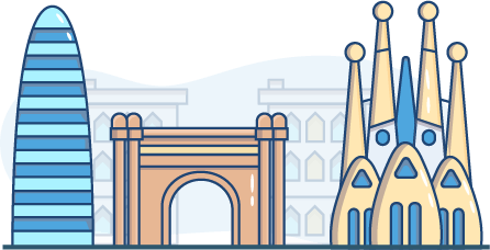 free Barcelona illustration