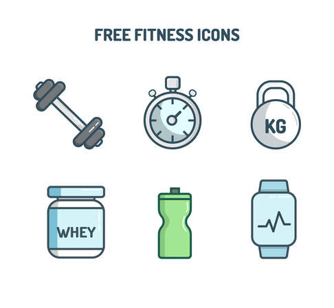free fitness svg vector icons