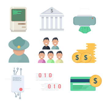 free money vector icons