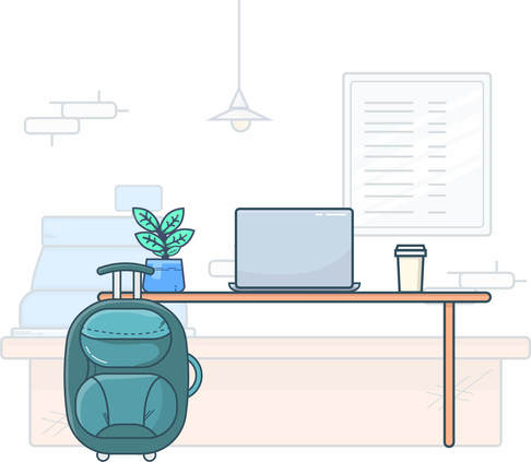 free digital nomad illustration