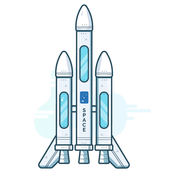 SVG Illustration of a space rocket